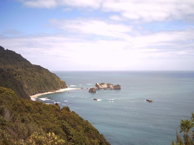 Stunning coastline of the west coast of the south island of New Zealand