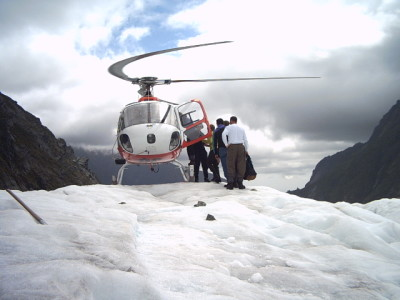 Heli Copter on fox glacier, New Zealand