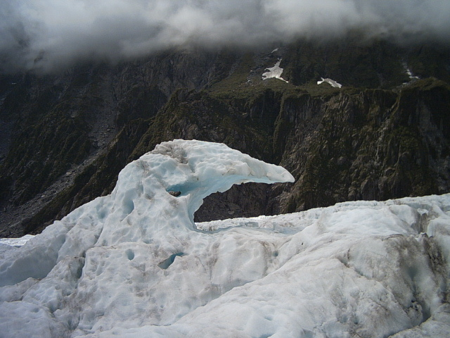 Ice on Fox Glacier New Zealand
