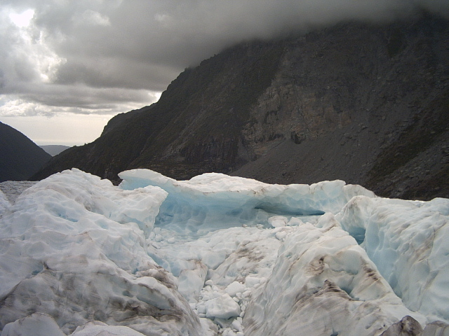 On Fox Glacier, New Zealand