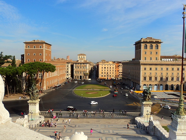 View of Piazza Venezia, Rome