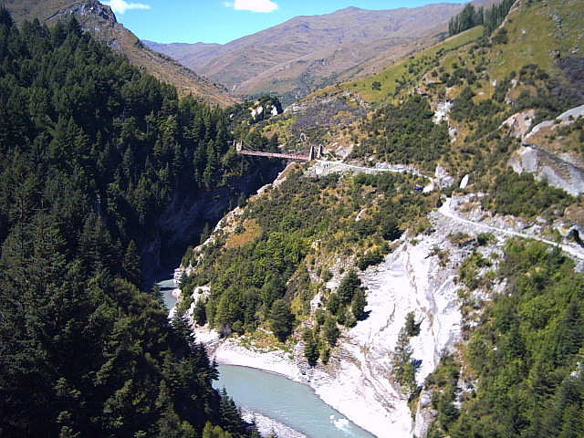 Shotover River on Skipper's Canyon Rd, New Zealand