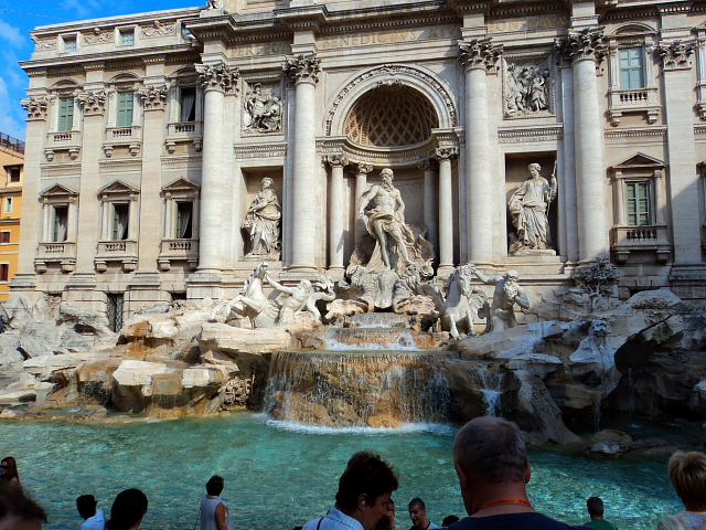 The Trevi Fountain (Fontana di Trevi) in Rome, Italy