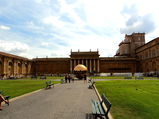courtyard inside the Vatican City