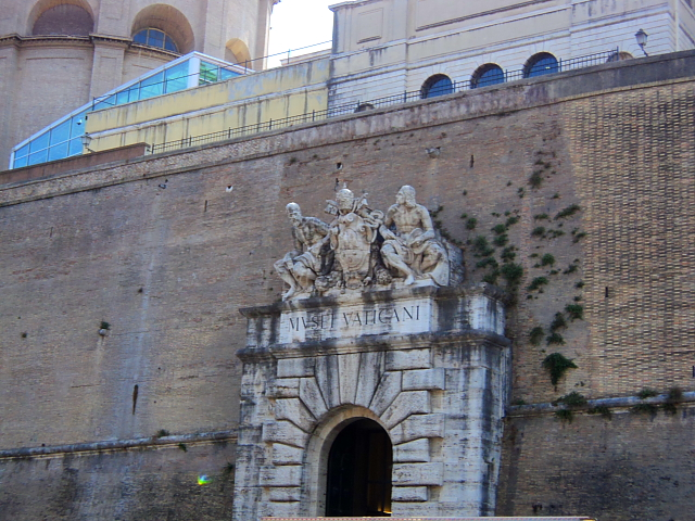 The entrance to the Vatican Museums