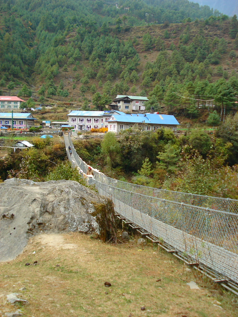 Bridge over the Dudh Kosi River on the trek to Mt Everest Base camp
