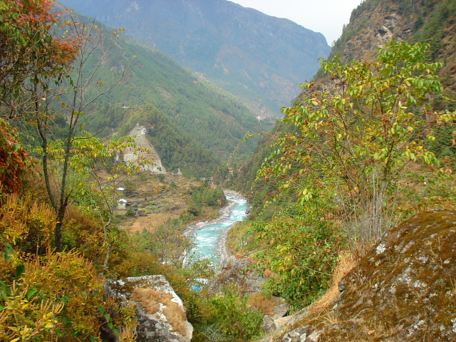 Dudh Kosi River on the trek to Mt Everest Base camp