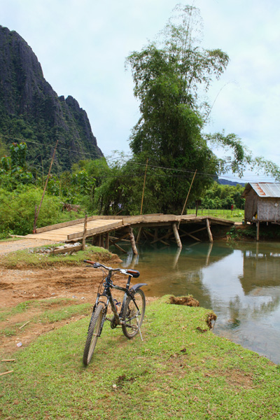 Cycling in Vang Vieng, Laos