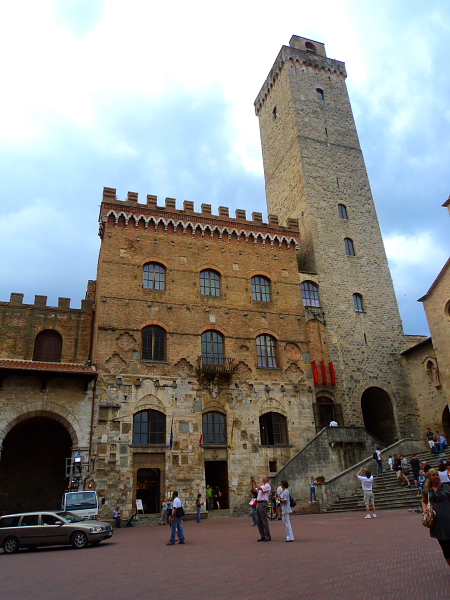 The people's palace (town hall) in San Gimignano, Italy