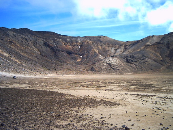 the south crater on the Tongariro Crossing, New Zealand