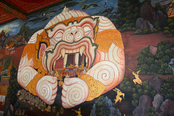 artwork in Wat Phra Kaew in bangkok, Thailand