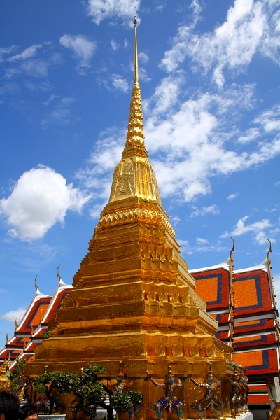 Golden chedi in Wat Phra Kaew in Bangkok, Thailand