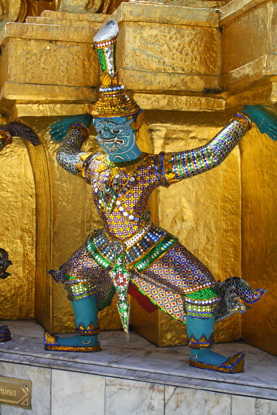 demon statue at Wat Phra Kaew in Bangkok, Thailand