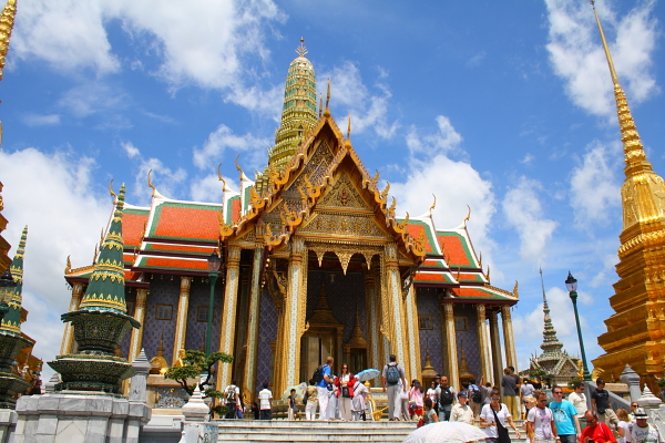 the royal pantheon in wat phra kaew in bangkok, thailand