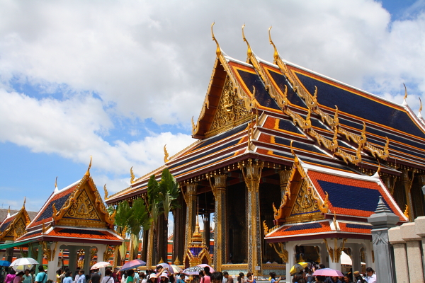 the ubosot (main shrine) in Wat Phra Kaew in Bangkok, Thailand