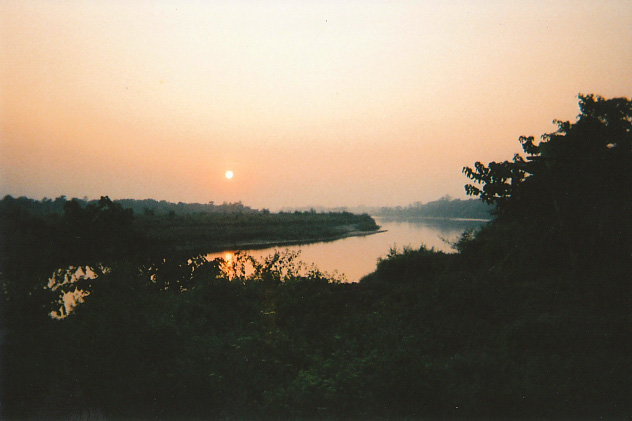 Sunset over the Terai at Chitwan, Nepal