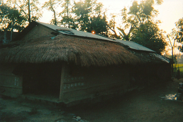 Traditional Tharu house in Chitwan, Nepal