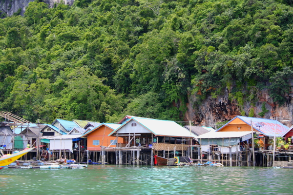 Houses at Koh Panyee, Thailand