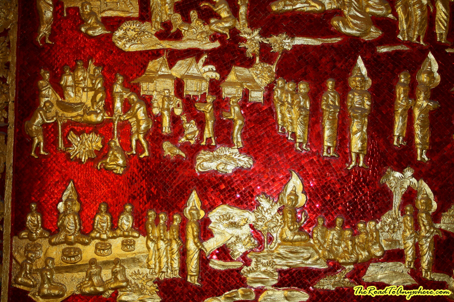 Artwork in Haw Pha Bang in Luang Prabang, Laos