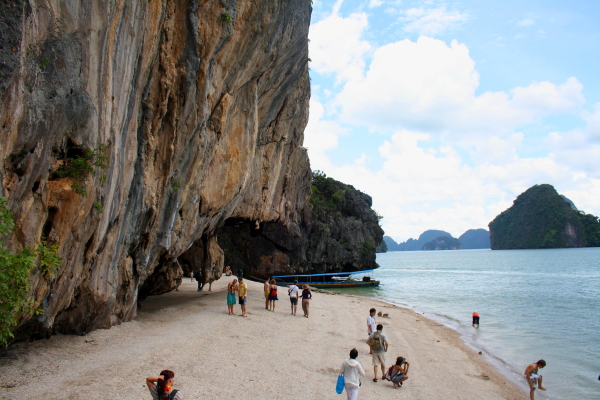 Beach at James Bond Island, Thailand
