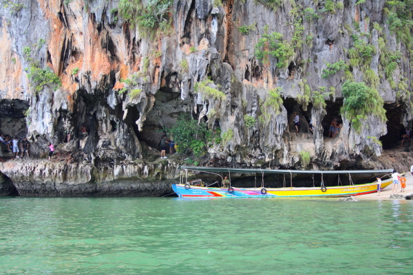 Sea caves at James Bond Island, Thailand