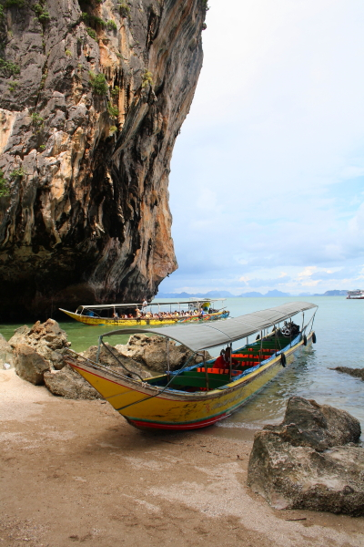 long tail boat at James Bond Island, Thailand