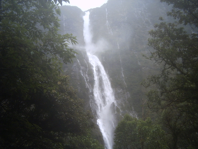 Sutherland Falls on the Milford Track, New Zealand