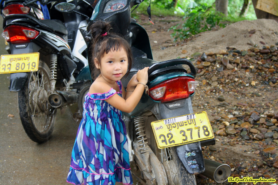 Little girl posing for a photo in Luang Prabang, Laos