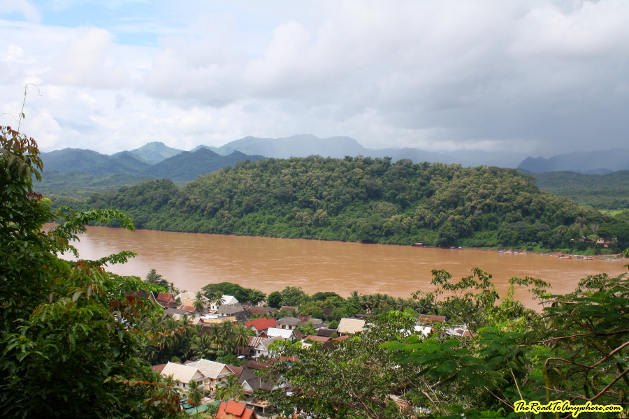 View of the Mekong River from Mount Phousi in Luang Prabang, Laos
