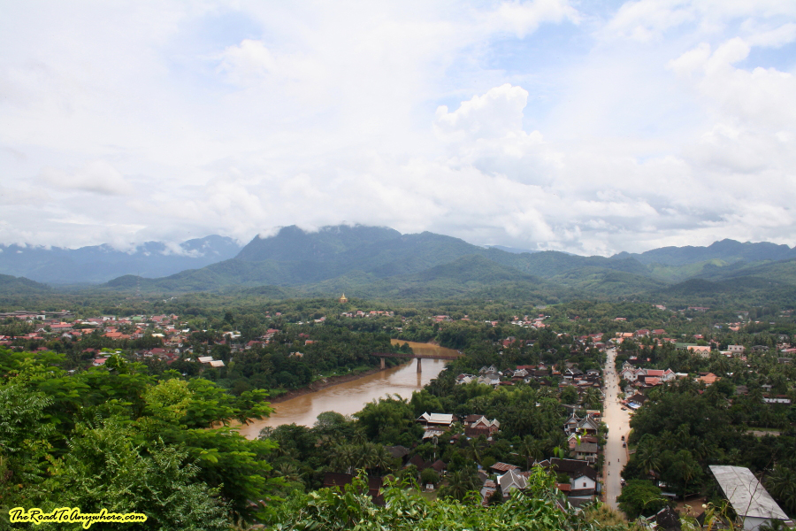 View from Mount Phousi in Luang Prabang, Laos
