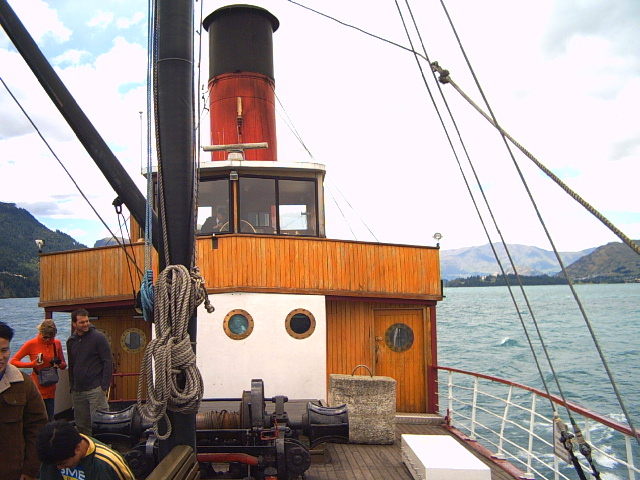 TSS Earnslaw Steamboat in Queenstown, New Zealand