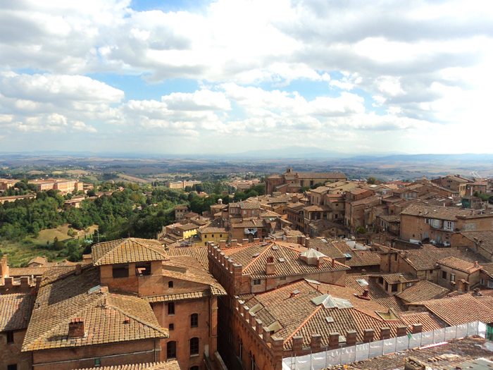 View from the Panorama del Facciatone in Siena, Italy