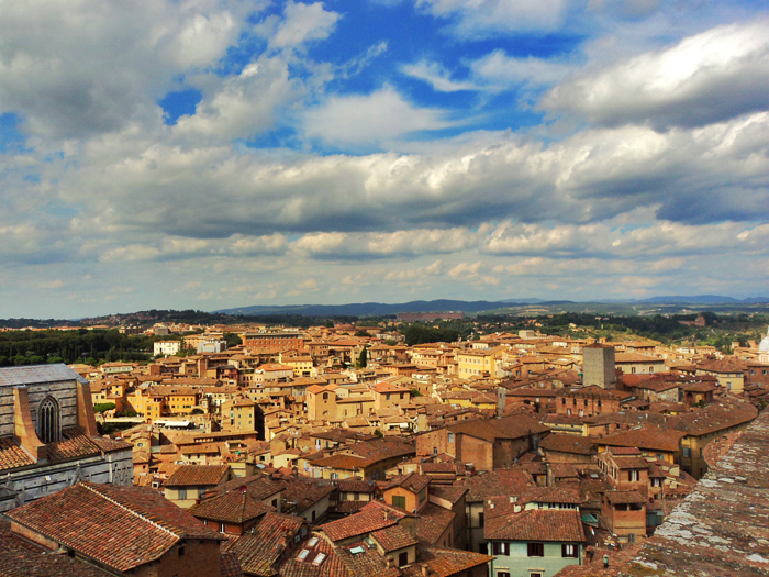 View of Siena from the Panorama del Facciatone, Italy