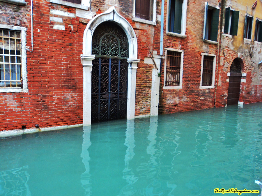 Flooded canal in Venice, italy