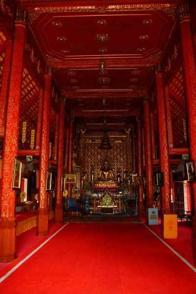 The main shrine at Wat Phra Singh in Chiang Rai, Thailand