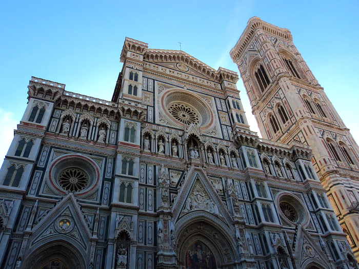 The front facade of Florence Cathedral, Italy