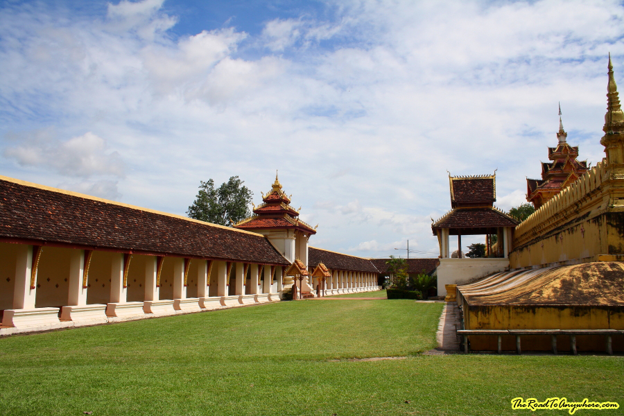 Courtyard at Pha That Luang in Vientiane, Laos