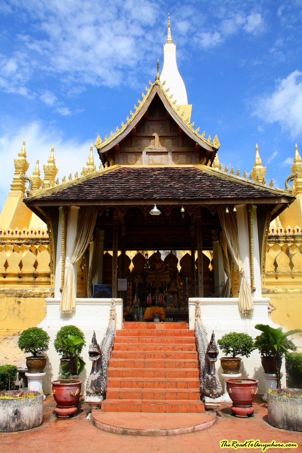 A shrine at Pha That Luang in Vientiane, Laos