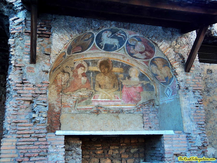 Old painting in Rome, Italy