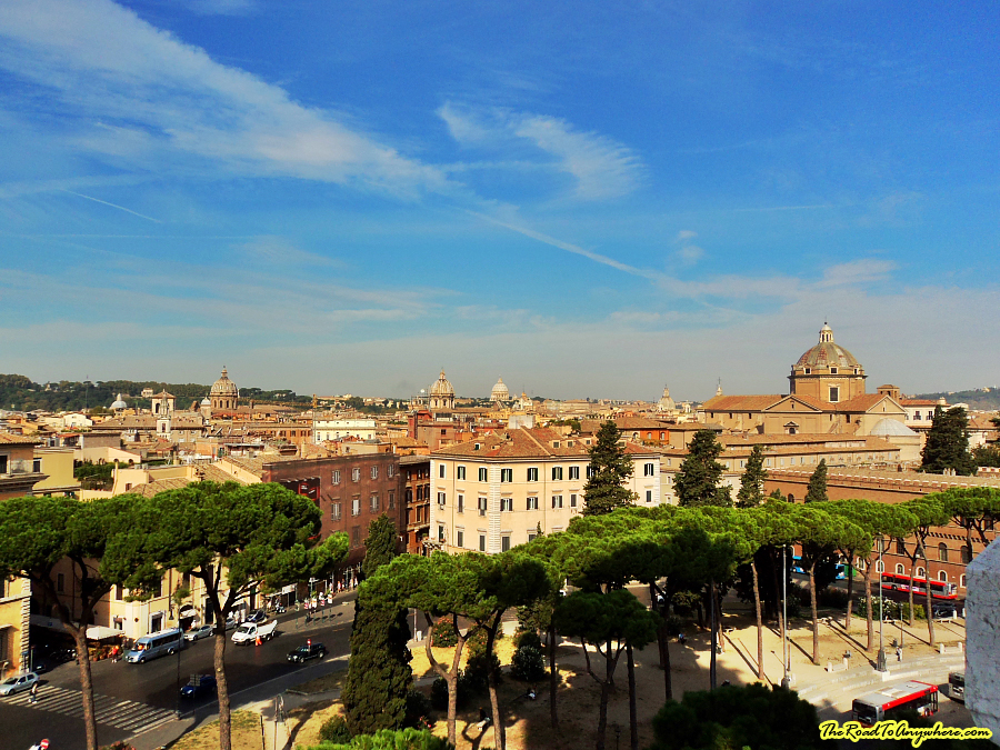 View of Rome from Vittorio Emanuele II monument, Italy
