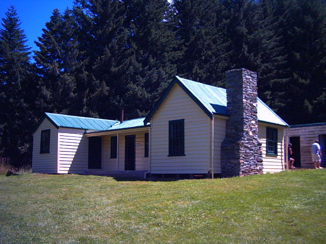 Mount Aurum Station's Homestead in Skipper's Canyon, New Zealand