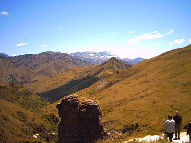 View on Skipper's Canyon Road in Queenstown, New Zealand