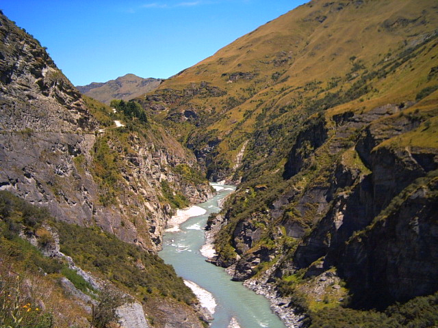 Skipper's Canyon Road in Queenstown, New Zealand