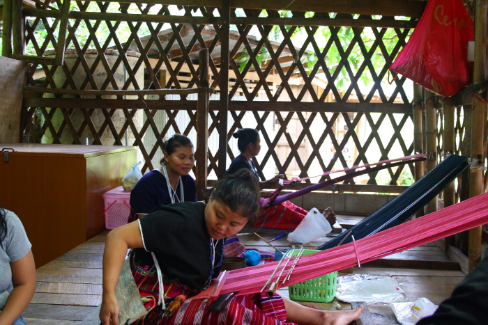 Making garments in a White Karen Village in Northern Thailand