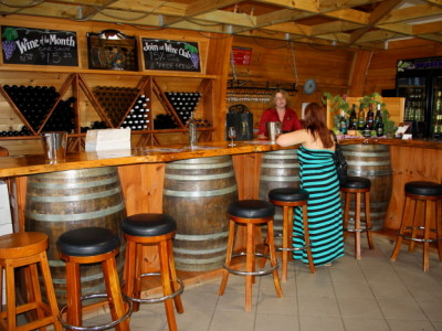 Buying wine at Maleny Mountain Wines in Maleny, Australia