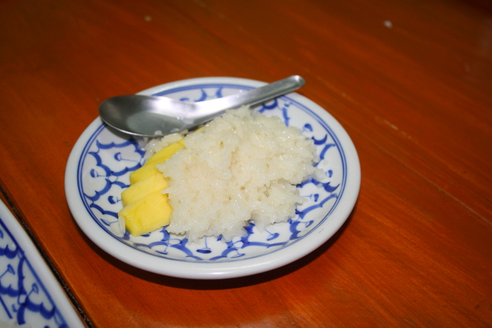 Sticky Rice with Mango in Chiang Mai, Thailand