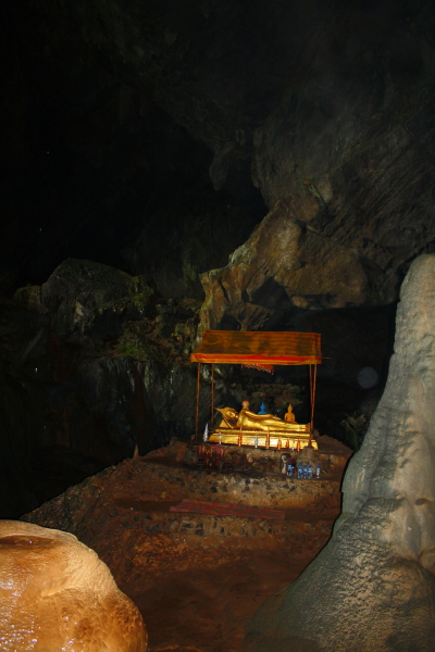 Buddha statue in Poukham Cave in Vang Vieng, Laos