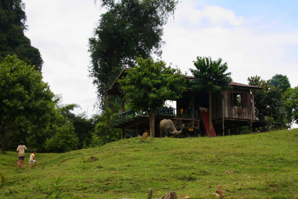 House in the countryside in Vang Vieng, Laos