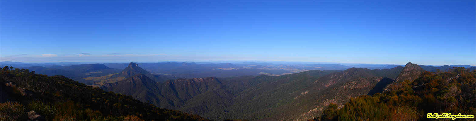 Panorama from the summit of Mount Barney East Peak in Queensland, Australia