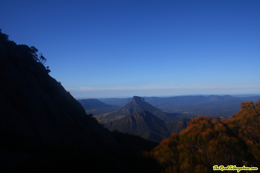View of Mount Lindesay from Mount Barney, Australia